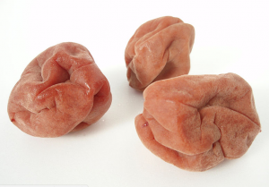 Umeboshi plums, sweet and salty flavor