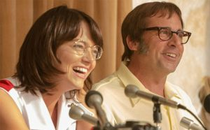 """Emma Stone and Steve Carell in """"Battle of the Sexes."""""""