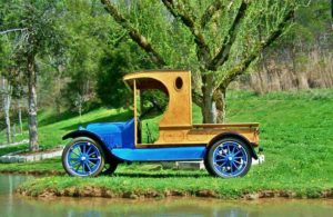 Chevy Centennial trucks draw inspiration from this 1918 Chevy pickup.