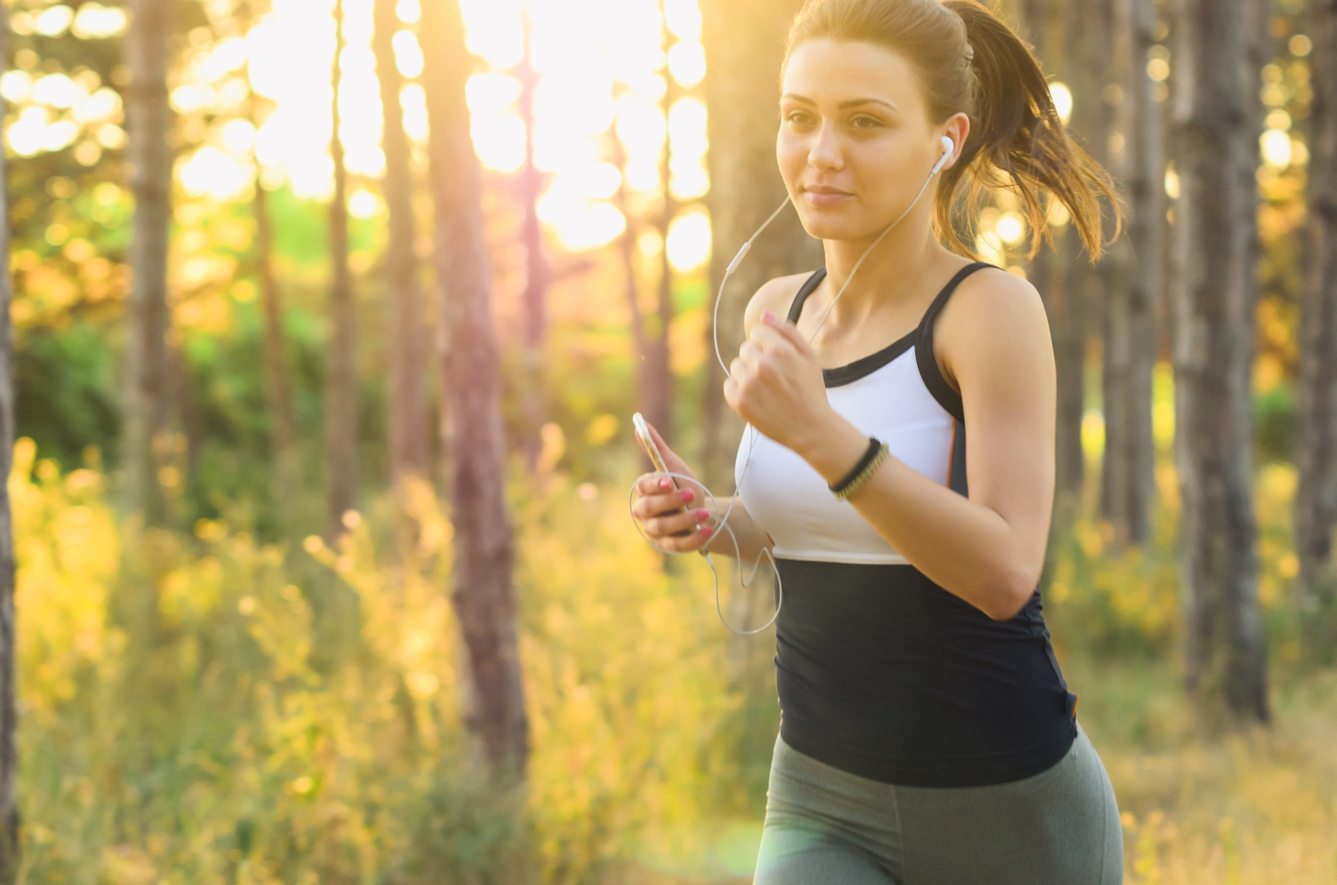 Add jogging outside to your daily habits to increase happiness and health.