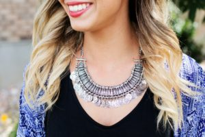 Using Accessories to Create A New Look: A statement necklace