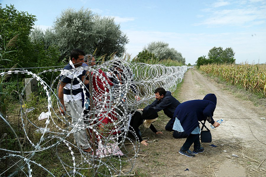Migrants in Hungary 2015