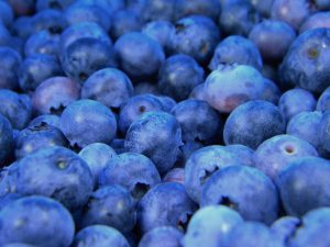 Blueberries - one of the few naturally-occurring blues color