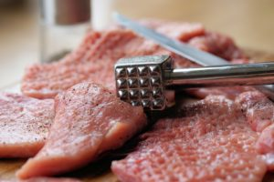 Meat cooks more evenly when you've used a meat tenderizer cooking