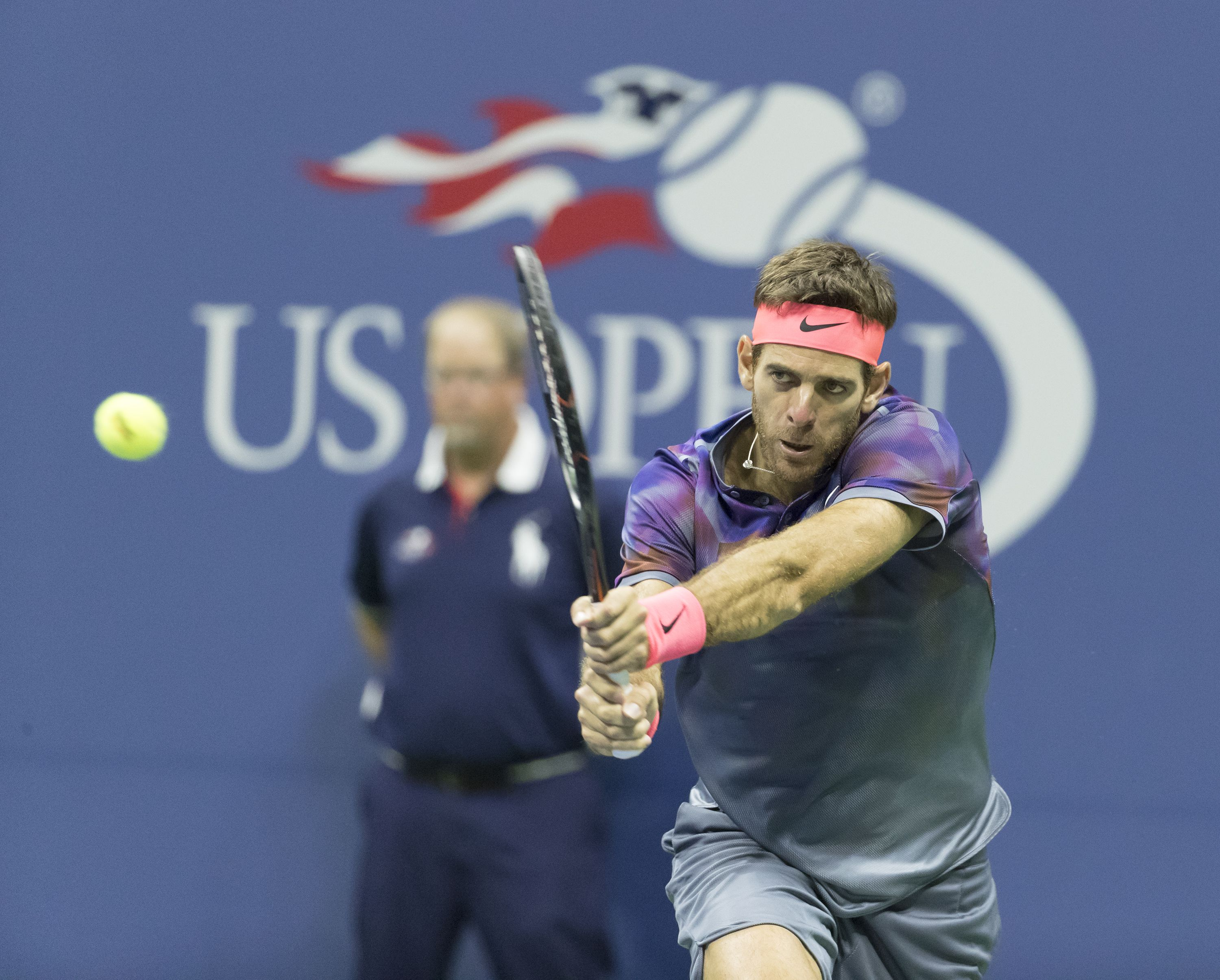 Argentinian Juan Martin' del Potro will face Rafael Nadal in the Semi-finals of the US Open. (Photo: Lev Radin)