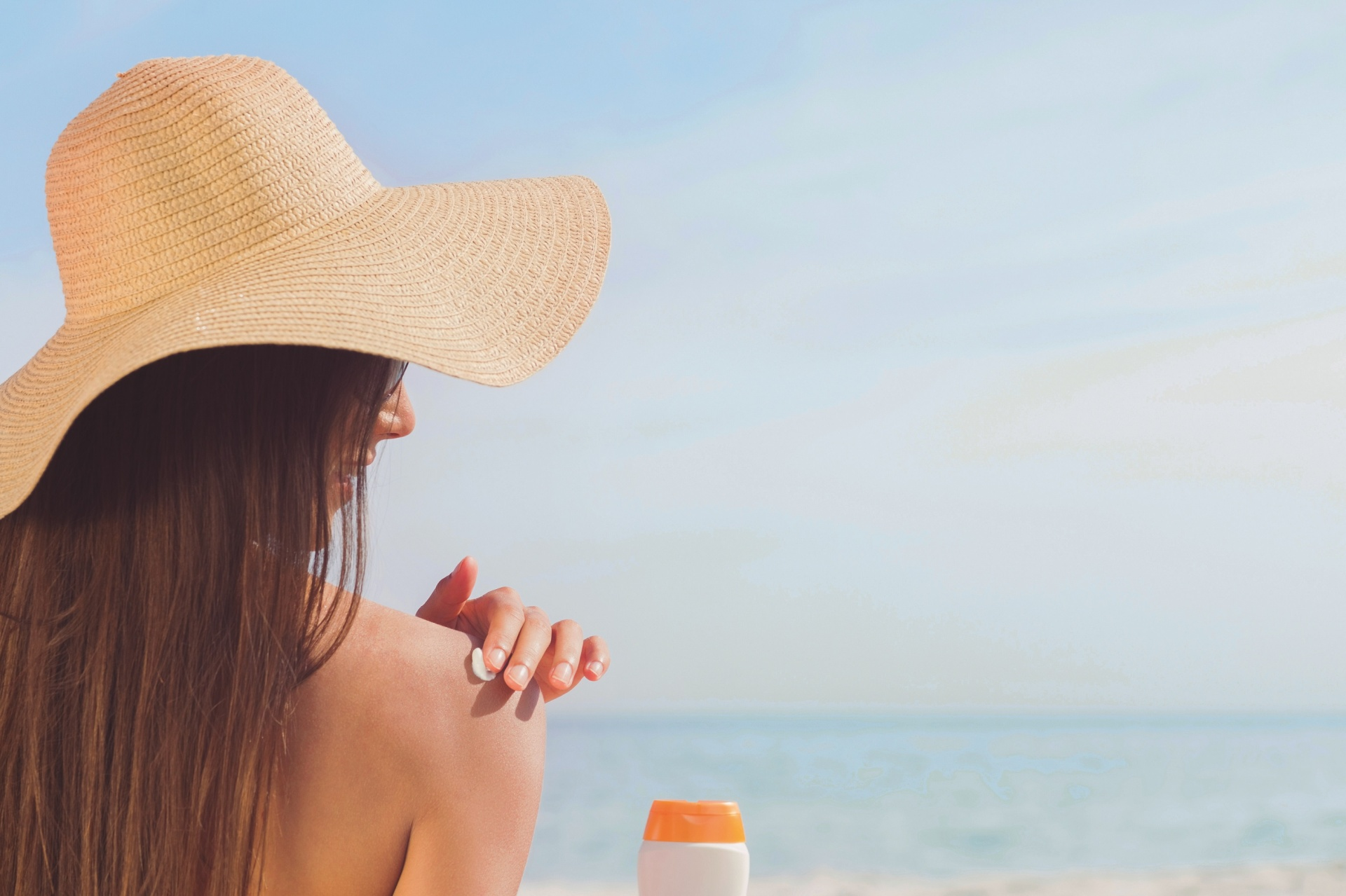 Moisturizing and applying sunscreen are essential to maintaining youthful glowing skin.