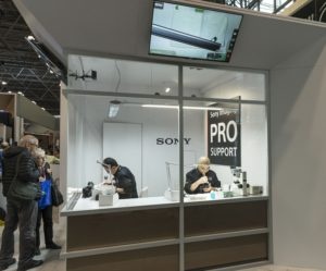 The Sony display at the PhotoPlus International Conference/Expo Reels in NYC (Photo: Lev Radin)