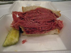 Yes, you will like a Slyman's Corned Beef Sandwich.