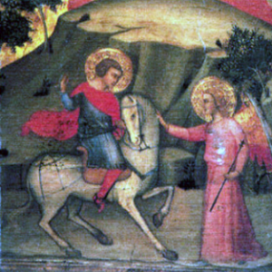 Galgano meets the Archangel Michael sword