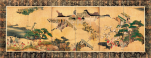 """Scenes from """"Tale of Genji"""" writers"""