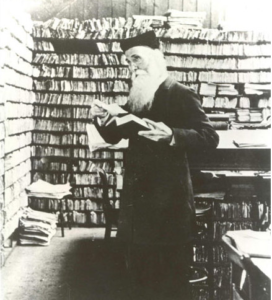 James Murray in his library dictionary
