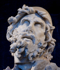 Bust of Odysseus, one of the heroes from ancient texts The Iliad and The Odyssey
