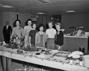Times have changed since the lavish holiday parties of the 60s