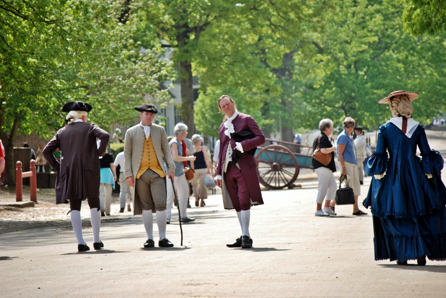 A normal Tuesday afternoon in Colonial Williamsburg.