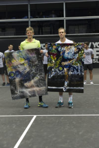 Kevin Anderson and Sam Querrey, at the first-ever ATP 250 New York Open tennis championship (Photo: Lev Radin/Gildshire)