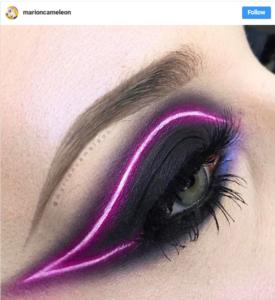 Instagram neon eyeliner