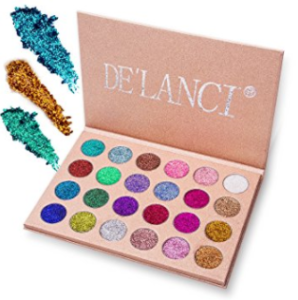 Example of a glitter eyeshadow palette