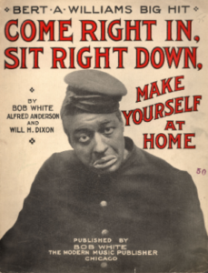 Bert Williams in character