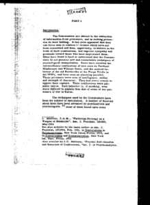 A declassified page from MKUltra