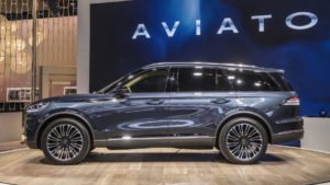 The Lincoln Aviator was a popular draw at the New York Auto Show.