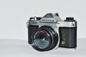 A Pentax camera, the brand Anne Geddes used when she started out