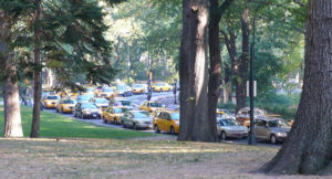 Central Park, shortly before the car ban will take place.