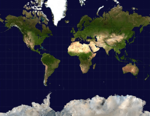 The familiar Mercator Projection Atlas