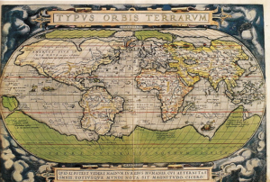 One of Ortelius' maps Atlas