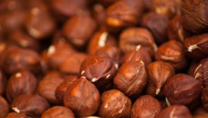 When crushed, hazelnuts mimic cocoa powder's texture Nutella
