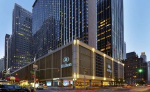 The Hilton, in midtown Manhattan