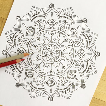 The meditative and hypnotic quality that mandalas elucidate in someone as they draw and color them acts like a calming measure