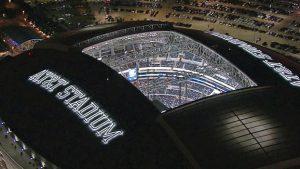 AT&T Stadium hosts the Big 12 championship shootout.