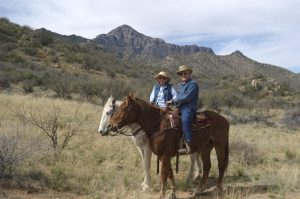 Two folks enjoying New Year's Eve in a healthy way at Elkhorn Ranch.