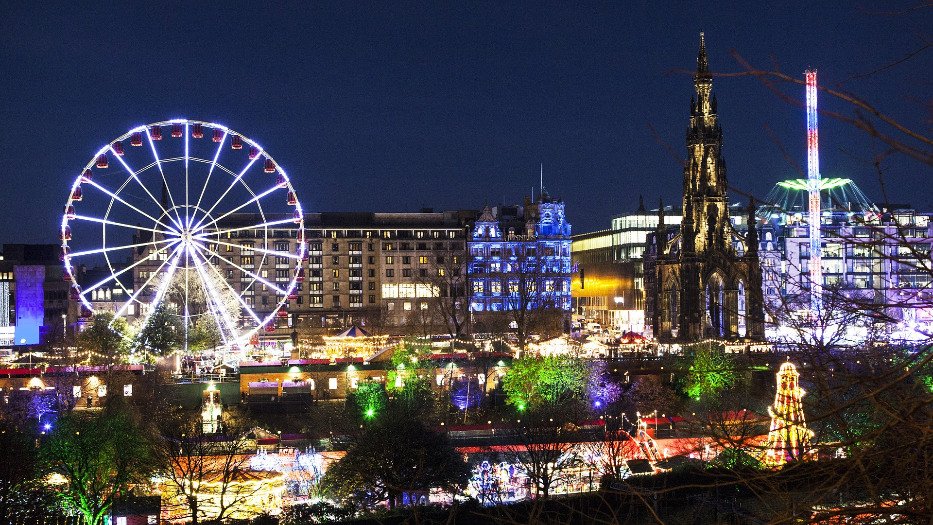 Edinburgh Christmas Market, Scotland