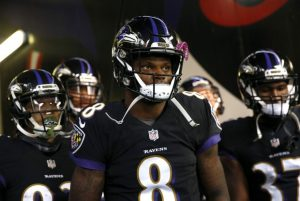Dual-threat quarterback Lamar Jackson is a story the Gildshire Sports Spotlight: Christmas Weekend finds compelling.