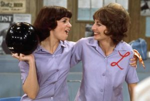 Cindy Williams and Penny Marshall in Laverne and Shirley.