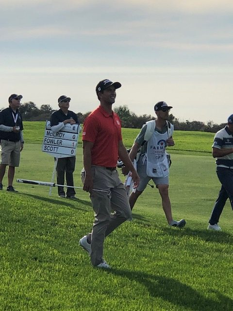 Adam Scott walking the fairway at Torrey Pines during the Farmers Insurance Open 2019 (Photo: Gabriela Golumbovici/Gildshire)