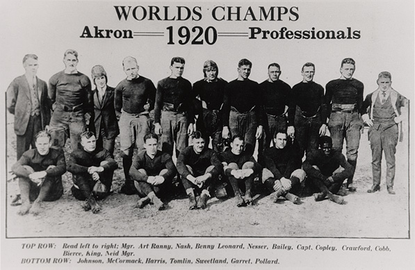 "The league may have been Ohio only, but the Akron Pros were ""world"" champs, nonetheless."