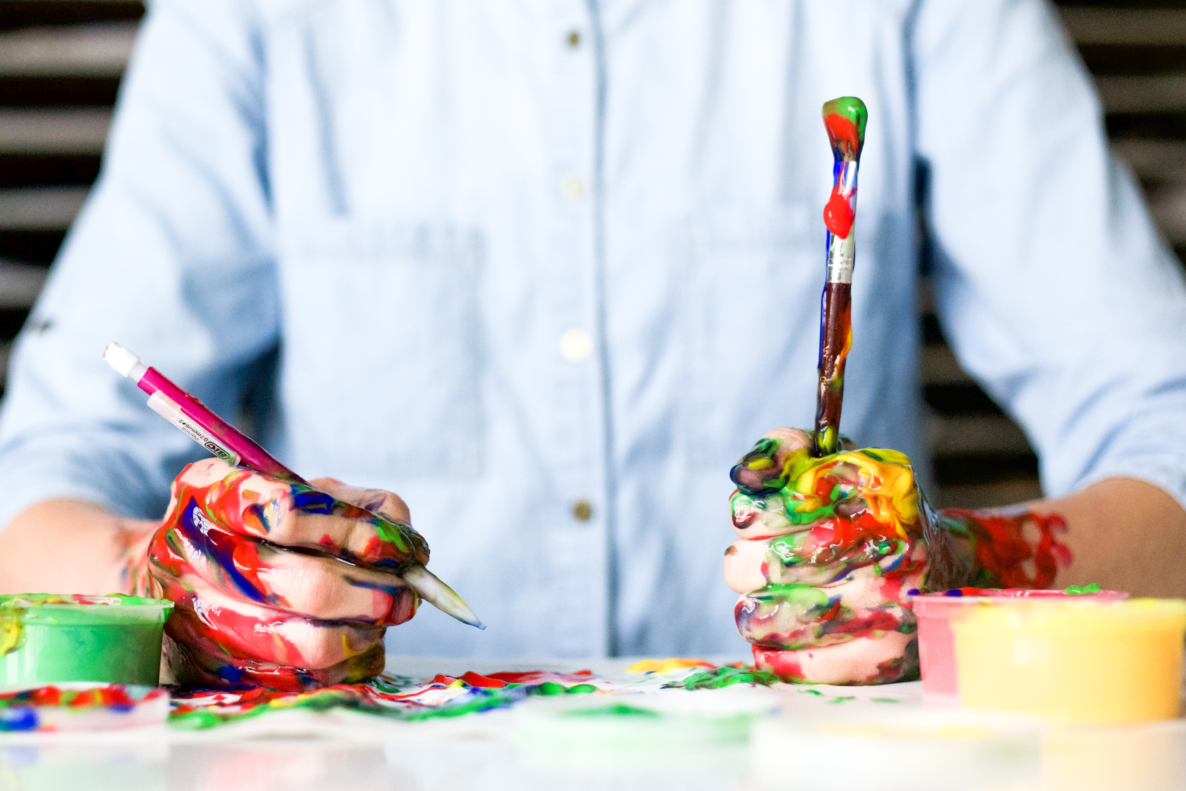 Create art more often. Whatever kind of medium is your favorite, do it! And yes, crafts are a type of art.