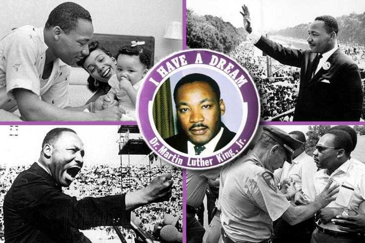 Rev. Dr. Martin Luther King Jr. Family man, disrupter (in a good way) and Civil Rights leader.