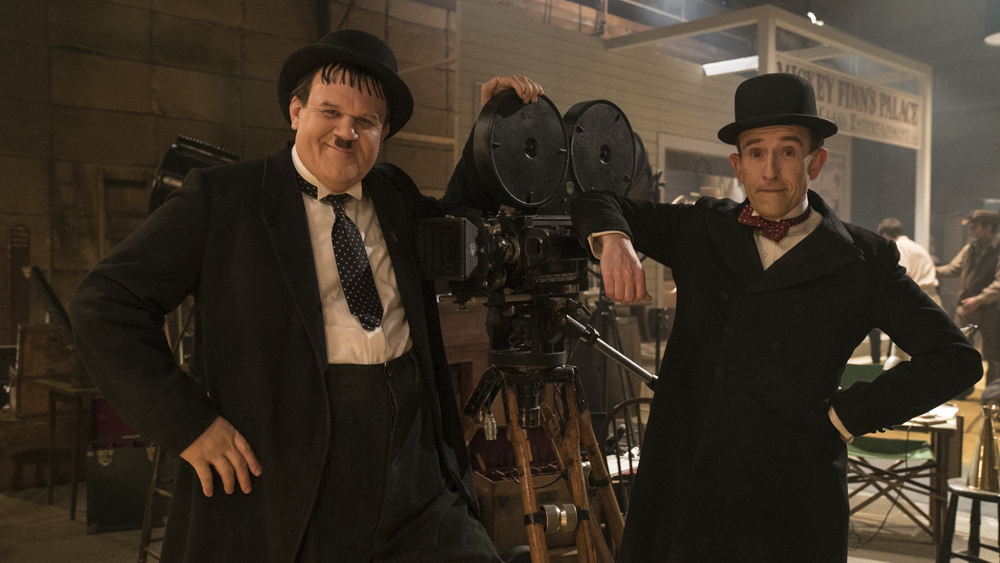 """L to R: John C. Reilly (in his best role) as Oliver Hardy and Steve Coogan as Stan Laurel in """"Stan and Ollie."""""""