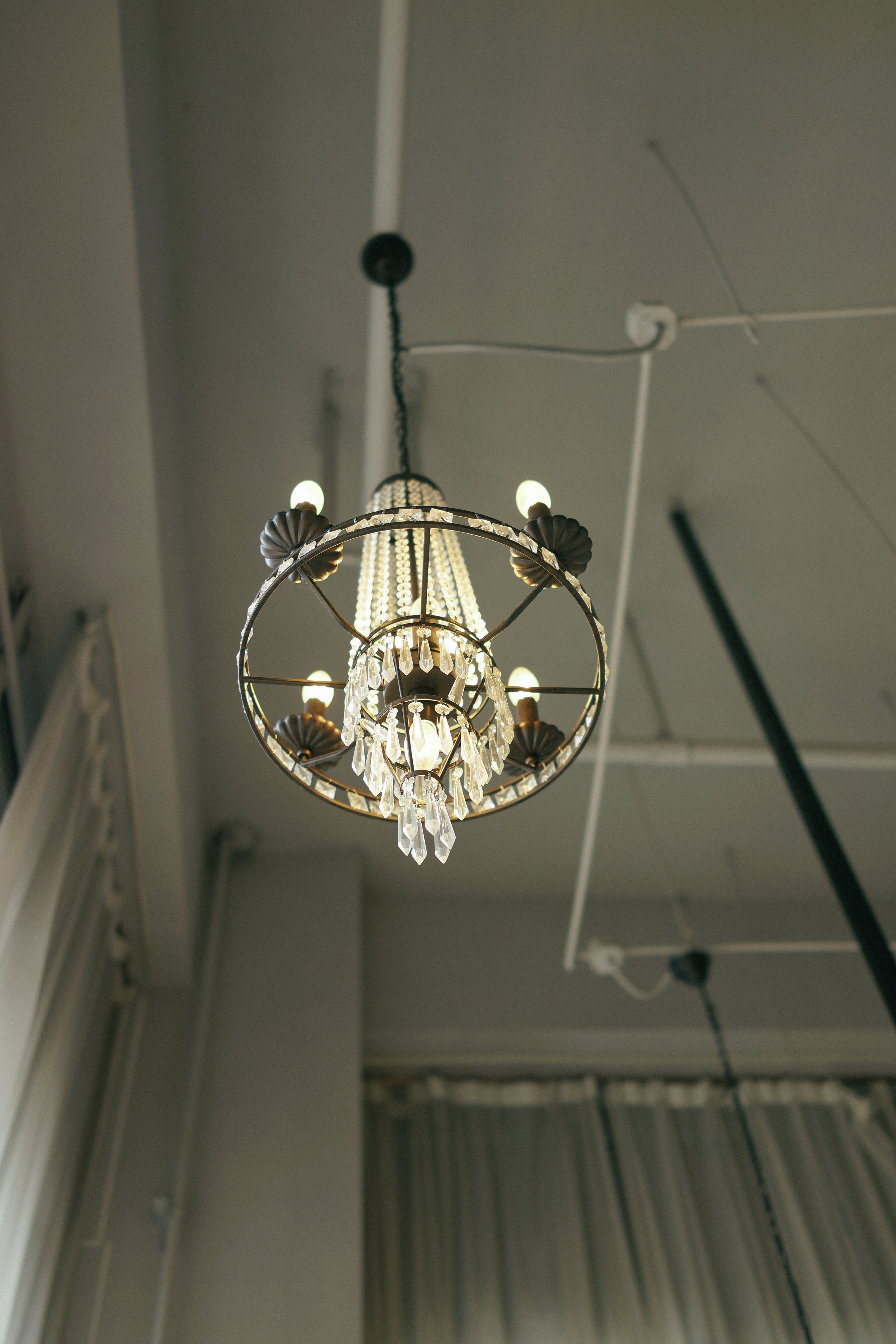 Victorian chandeliers are back in fashion.