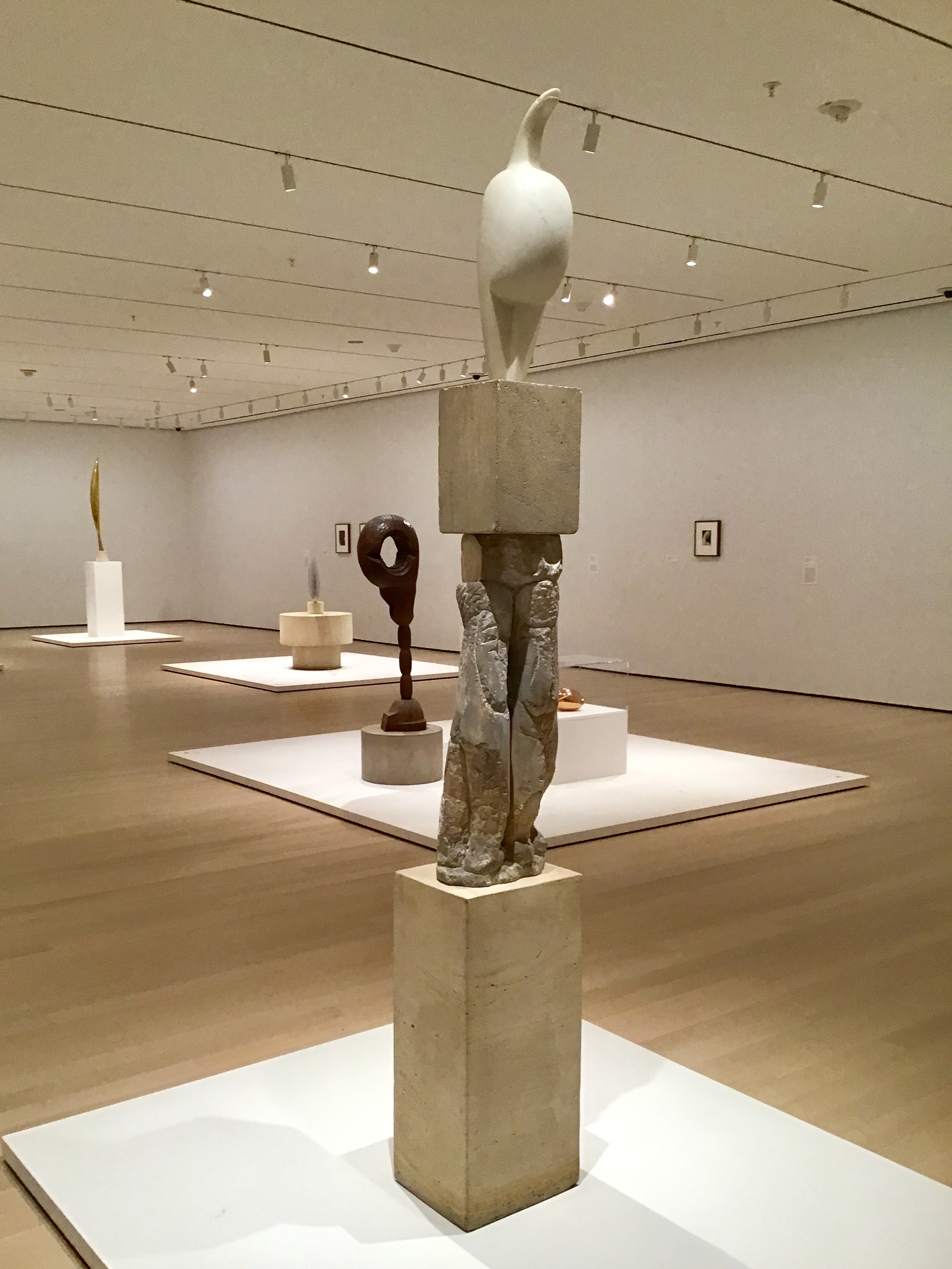 Constantin Brancusi's Sculpture Exhibition at the Museum of Modern Art in New York City