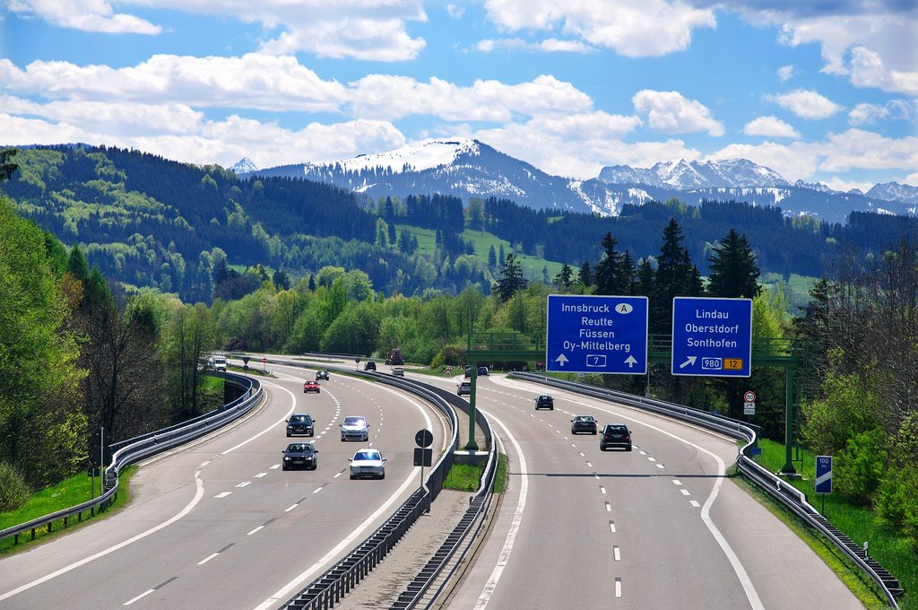 The German Autobahn is carefully-maintained to withstand 100-mph travel.