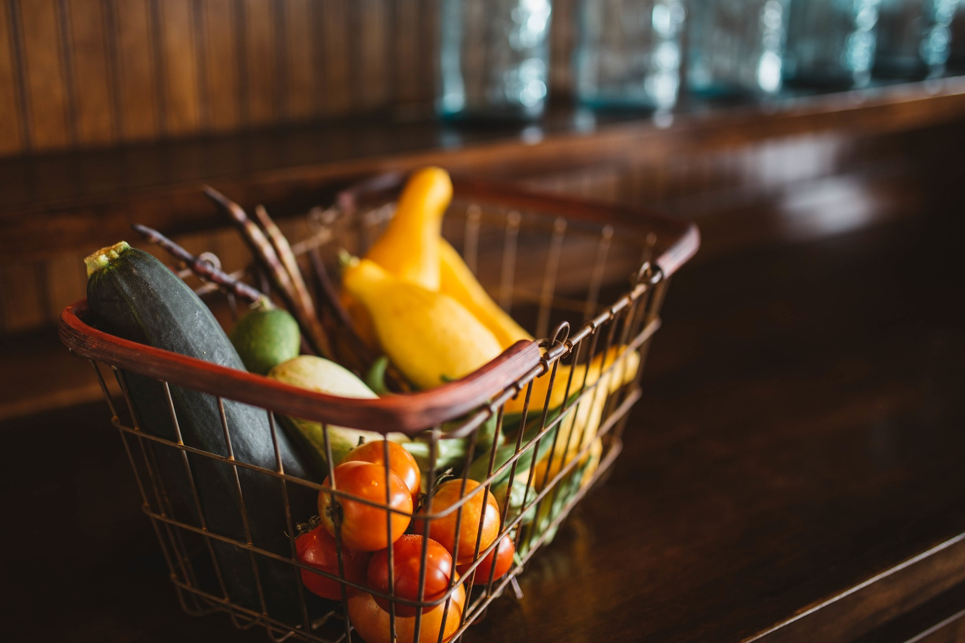 Organizations donate produce to families in need.