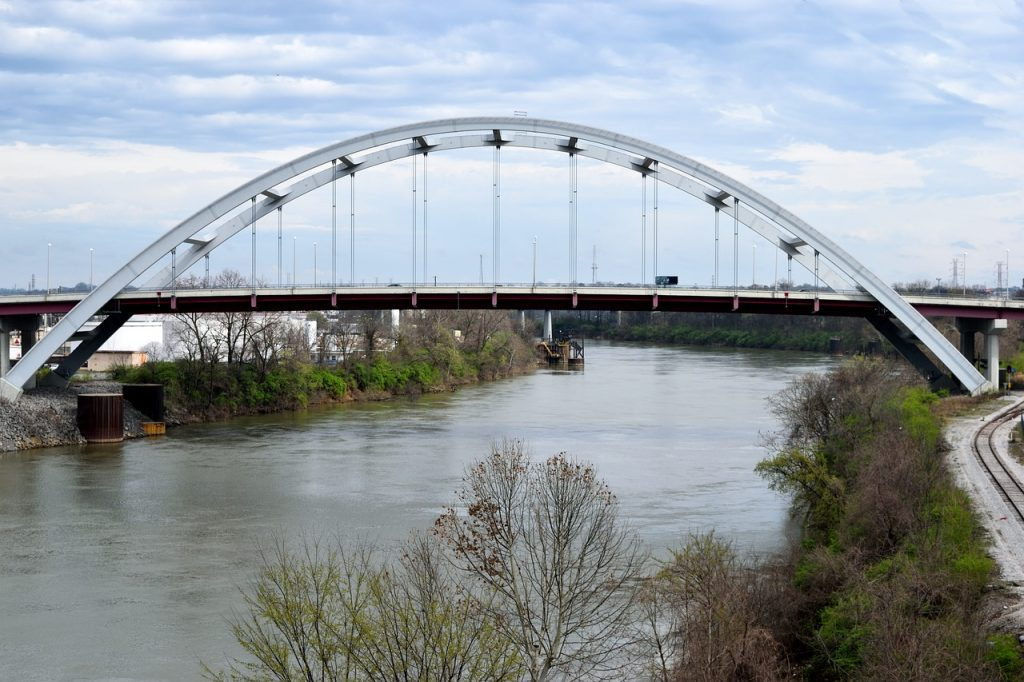 The Cumberland River provides a lovely backdrop to your spring break vacation trip to Nashville.