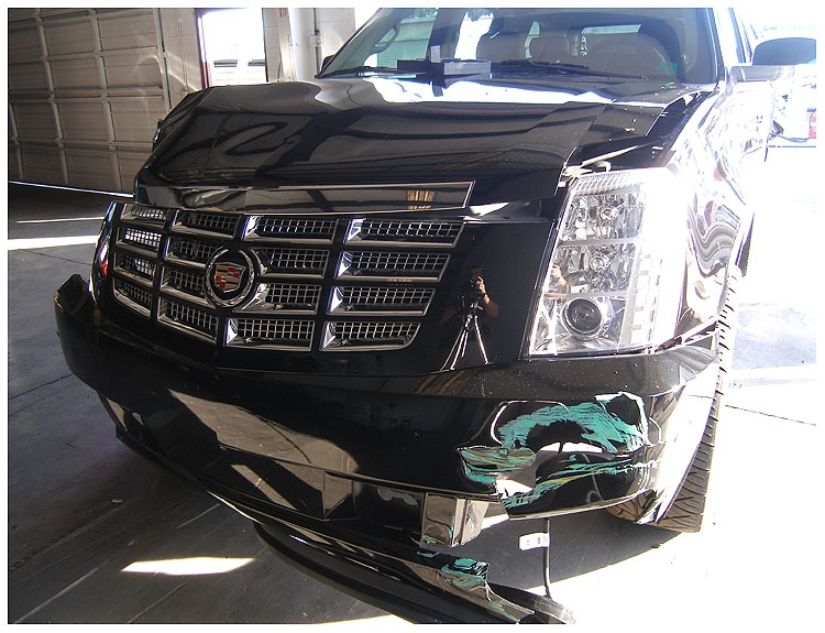 Tiger's Escalade was damaged, but his reputation took even more of a hit.