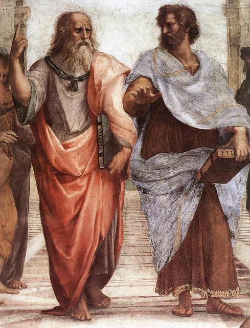 Greek philosophers, Plato and Aristotle.