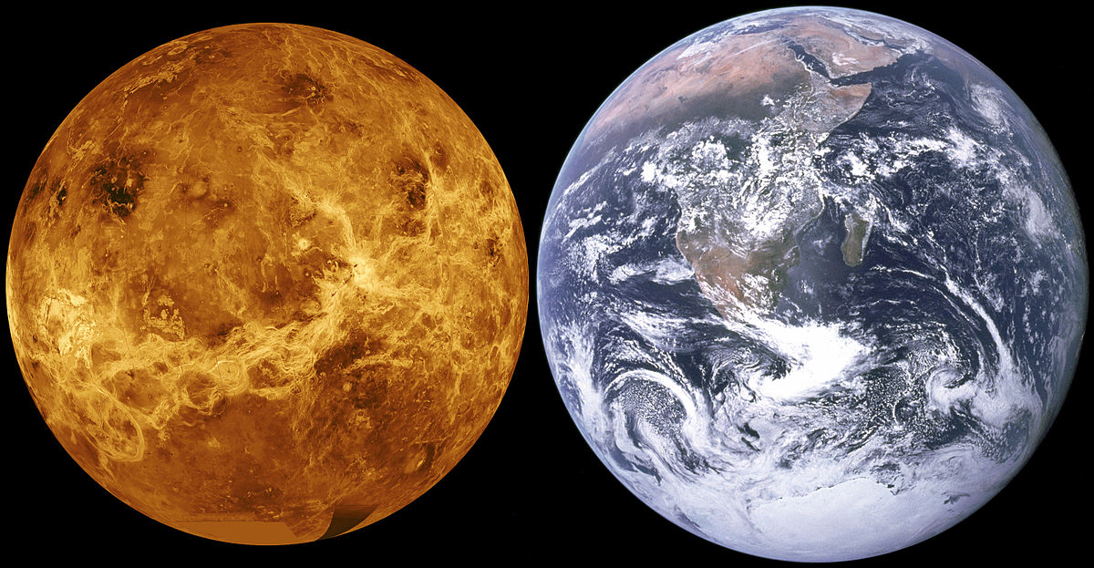 Venus compared to Earth: Life on Venus?