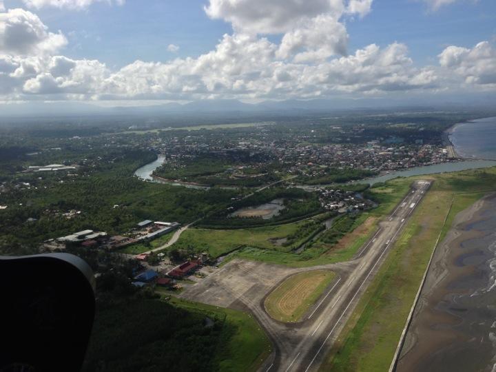 Dipolog airport aerial view.